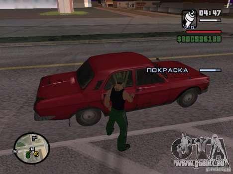 Repeindre de l'actionneur pour GTA San Andreas cinquième écran