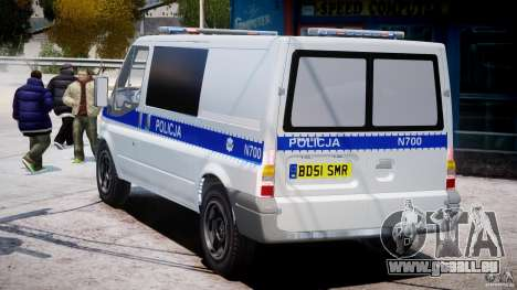 Ford Transit Polish Police [ELS] für GTA 4 hinten links Ansicht