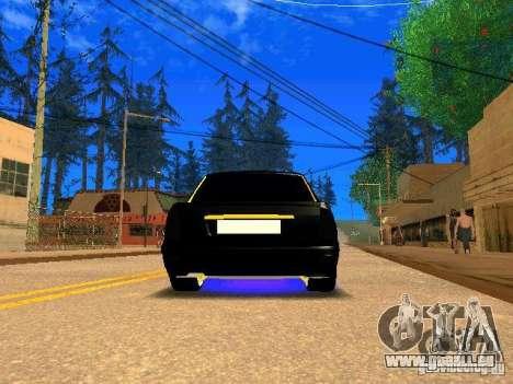 LADA 2170 Priora Gold Edition pour GTA San Andreas vue arrière
