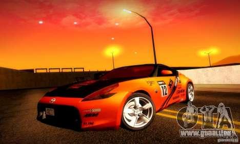 Nissan 370Z V2 für GTA San Andreas Innen