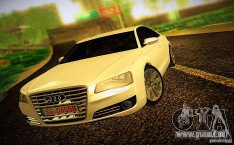 Audi A8 2010 pour GTA San Andreas vue de côté