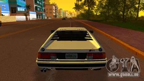 BMW M1 (E26) 1979 pour une vue GTA Vice City de la gauche