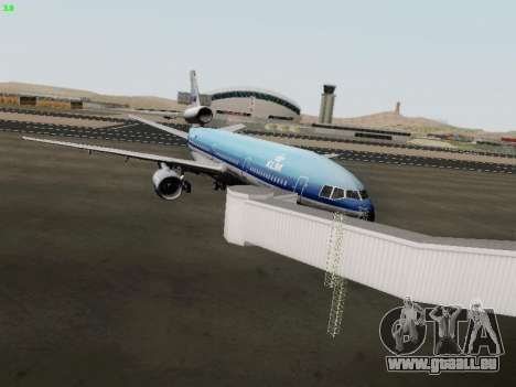 McDonell Douglas DC-10-30 KLM Royal Dutch für GTA San Andreas Rückansicht