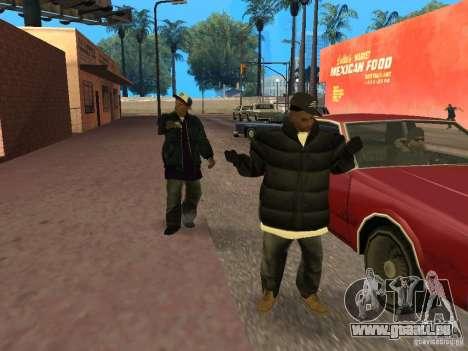 Vêtements d'hiver pour les Ballas pour GTA San Andreas troisième écran