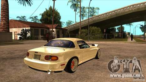 Mazda Miata JDM pour GTA San Andreas vue de droite