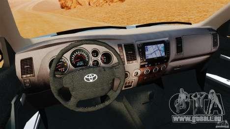 Toyota Tundra 2011 pour GTA 4 Vue arrière