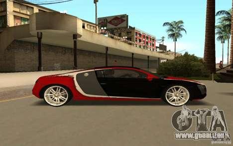 Audi R8 Le Mans Quattro pour GTA San Andreas vue intérieure
