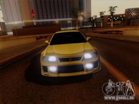 Mitsubishi Lancer Evolution VI pour GTA San Andreas vue arrière