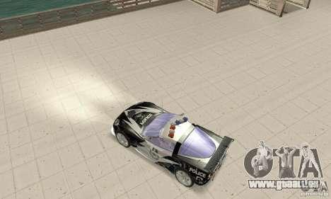 Chevrolet Corvette C6 Rough (NFS MW) pour GTA San Andreas sur la vue arrière gauche