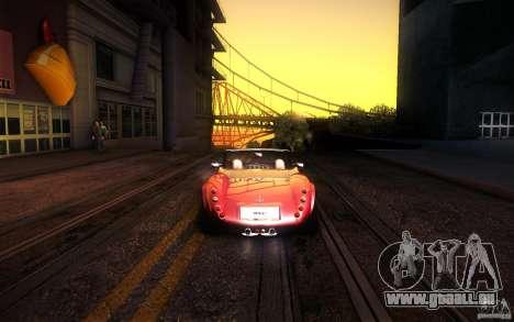 Wiesmann MF3 Roadster pour GTA San Andreas vue intérieure