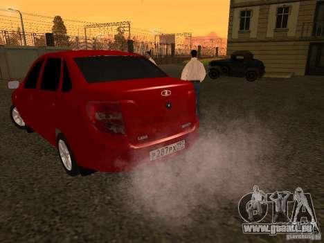 VAZ 2190 pour GTA San Andreas sur la vue arrière gauche