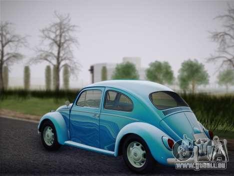 Volkswagen Beetle 1967 V.1 für GTA San Andreas zurück linke Ansicht