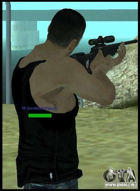 [Point Blank] L115A1 [Black] pour GTA San Andreas troisième écran