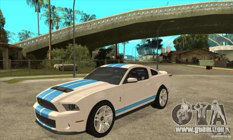 Ford Mustang Shelby GT500 2011 pour GTA San Andreas laissé vue