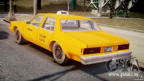 Chevrolet Impala Taxi v2.0 pour GTA 4 est un droit