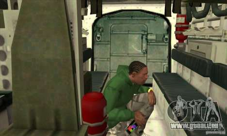 Stryker pour GTA San Andreas vue de dessus