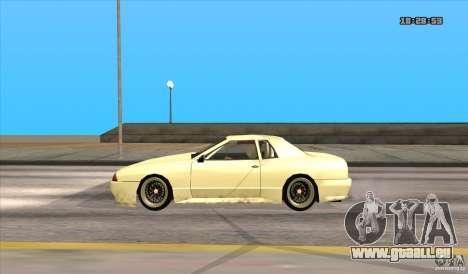 Elegy Drift Style pour GTA San Andreas sur la vue arrière gauche