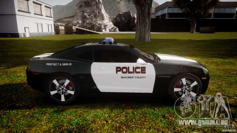 Chevrolet Camaro Police (Beta) pour GTA 4 est une vue de l'intérieur