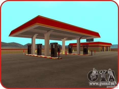 Nouvelle station d'essence Shell pour GTA San Andreas deuxième écran