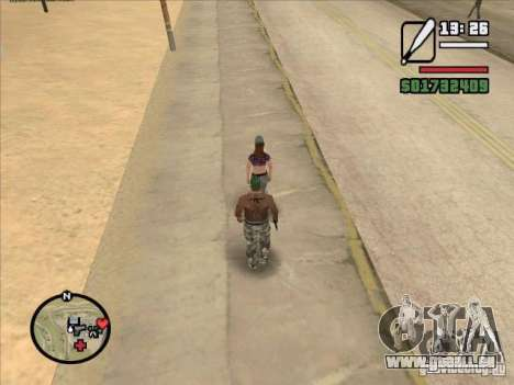 Briser la colonne vertébrale d'une chauve-souris pour GTA San Andreas deuxième écran
