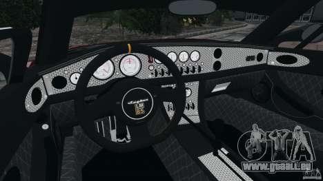 Spyker C8 Laviolette LM85 pour GTA 4 Vue arrière