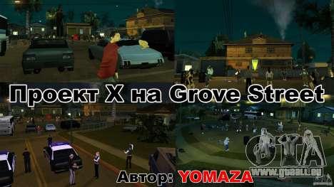 Projet x sur Grove Street pour GTA San Andreas