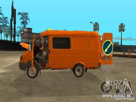 Gazelle 2705 Highway patrol für GTA San Andreas Innenansicht