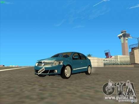 Volkswagen Voyage Comfortline 1.6 2009 für GTA San Andreas Innenansicht