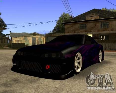 Elegy 0.2 pour GTA San Andreas sur la vue arrière gauche