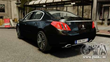 Peugeot 508 Presidentielle ELS für GTA 4 hinten links Ansicht