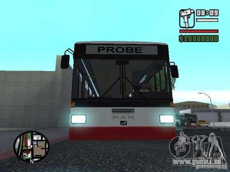 MAN SL 202 pour GTA San Andreas vue arrière