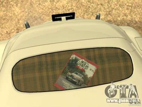 GAZ M20 Pobeda 1949 pour GTA San Andreas vue de dessous