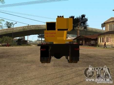 Camion KrAZ pour GTA San Andreas sur la vue arrière gauche