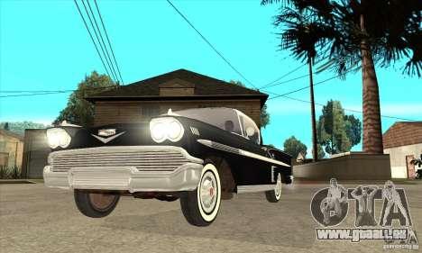 Chevrolet Impala 1958 pour GTA San Andreas vue de côté