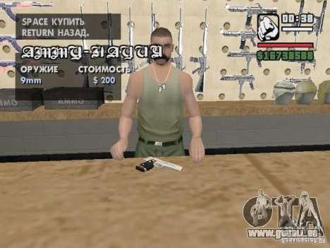 Silverballer de Hitman pour GTA San Andreas deuxième écran