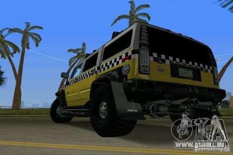 Hummer H2 SUV Taxi pour une vue GTA Vice City de la gauche