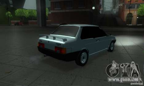 VAZ 21099 coupé pour GTA San Andreas vue arrière