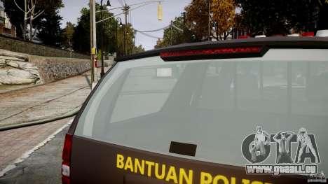 Chevrolet Tahoe Indonesia Police pour GTA 4 est une vue de dessous