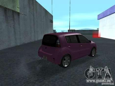 Toyota WiLL Cypha pour GTA San Andreas vue de droite