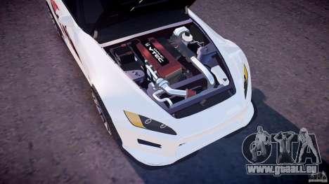 Honda S2000 Tuning 2002 peau 3 de recuit pour GTA 4 est une vue de dessous