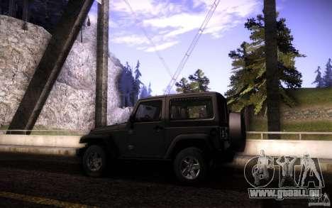Jeep Wrangler Rubicon 2012 für GTA San Andreas obere Ansicht
