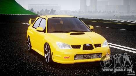 Subaru Impreza STI für GTA 4 Rückansicht
