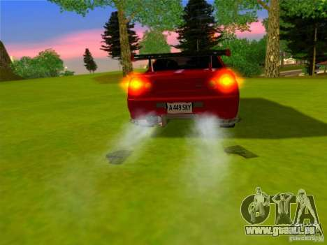 Nissan Skyline GT-R 34 pour GTA San Andreas sur la vue arrière gauche