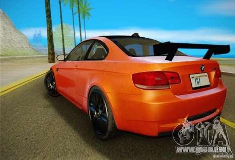 BMW M3 GT-S Final für GTA San Andreas Rückansicht