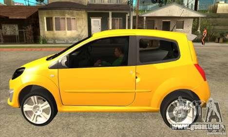 Renault Twingo RS 2009 pour GTA San Andreas laissé vue
