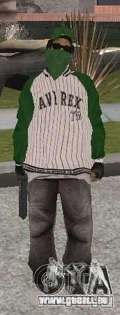 Neue Skins Grove Street für GTA San Andreas fünften Screenshot