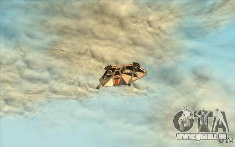 T-47 Snowspeeder pour GTA San Andreas vue intérieure