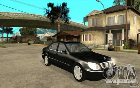 Mercedes-Benz S600 für GTA San Andreas Rückansicht