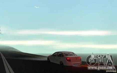 Lada Granta Stock pour GTA San Andreas sur la vue arrière gauche