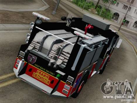 Seagrave Marauder Engine SFFD für GTA San Andreas Innenansicht
